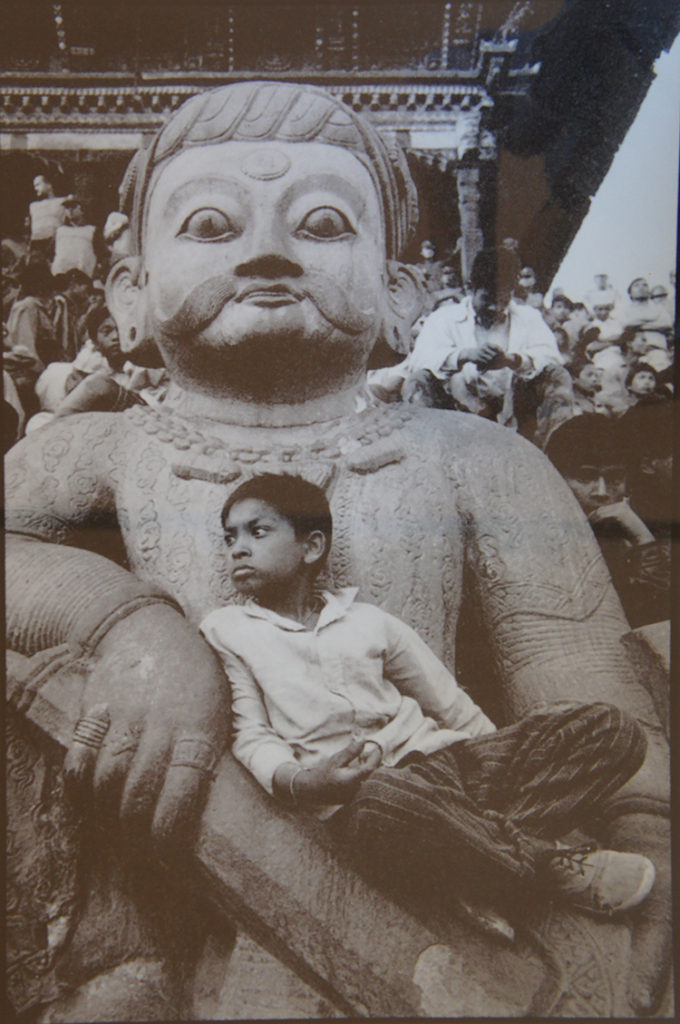 Toziano Terzani Guardian of the Nyatapola Temple Bhaktapur, 1995 Taragaon Museum Collection