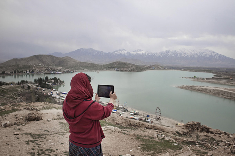 On a hill overhanging the Qargha Lake, a recreational area located a few kms away from Kabul.