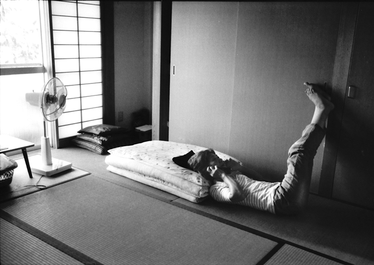My mother talking to her sister about the grandmother at the living room of her house. Kochi,Japan