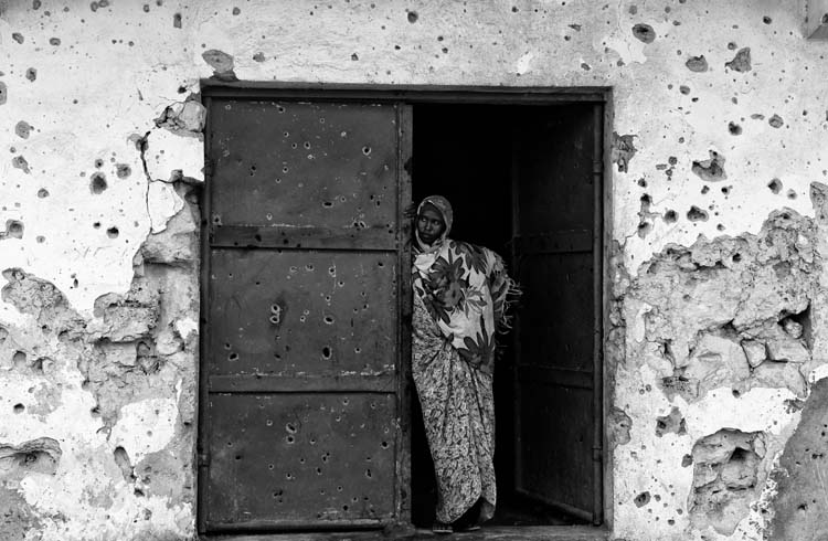 A view of the city and People living in Mogadishu