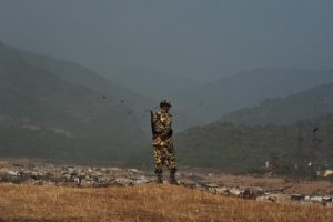 BGB on duty in the Companyganj border. In spite of their presence, their own countrymen are shot and killed by the BSF.