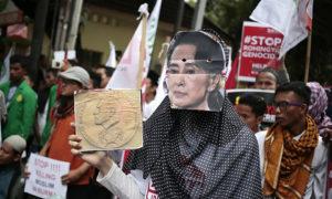 Aung-San-Suu-Kyi-mask-Rohingya